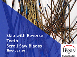 Skip Reverse Tooth Scroll Saw Blades