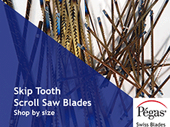 Pegas Skip Tooth Scroll Saw Blades