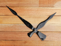 18 inch High Torque Black Spear Clock Hands   Bear Woods Supply