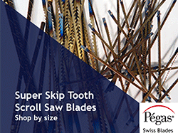 Super Skip Tooth Scroll Saw Blades by Pegas