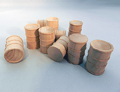 Wooden Toy Oil Drums Cargo 1-1/8 | Bear Woods Supply