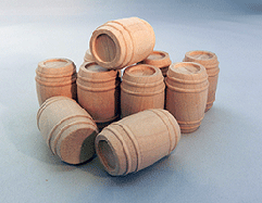 Wooden Toy Barrels Cargo 1-1/8 | Bear Woods Supply