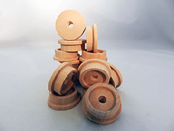 Toy Wooden Train Wheels 1-1/2 inch | Bear Woods Supply
