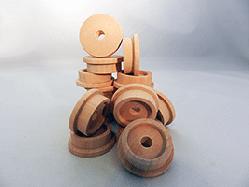 Toy Wooden Train Wheels 1-1/2 inch | Bear Woods Supply
