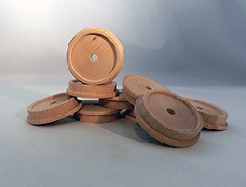 Toy Wooden Train Wheels 2-1/4 inch | Bear Woods Supply