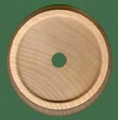 Wood toy train wheels