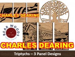 Scrollsaw patterns 3 panel triptychs