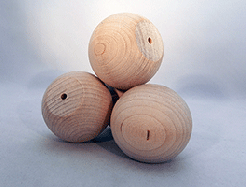 Wood Ball Knob 2-1/4 inch | Bear Woods Supply