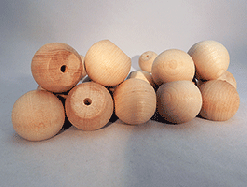 Wood Ball Knob 1-1/4 inch | Bear Woods Supply