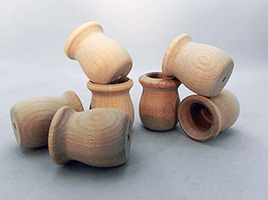 Wooden Candle Cups 1 inch | Bear Woods Supply