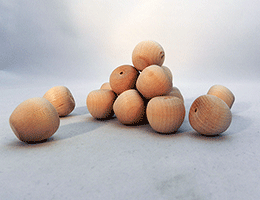 Wooden Cherry Apple Shapes | Bear Woods Supply