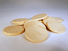 Wooden Discs For Crafts 1-1/4 inch | Bear Woods Supply