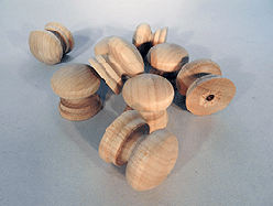 Wood Drawer Knobs 1-1/4 | Bear Woods Supply