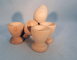 Wooden Egg Cup 2-1/8 inch | Bear Woods Supply