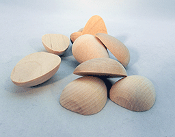 Wooden Split Eggs 1-5/8 inch | Bear Woods Supply