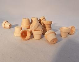 Wood Flower Pot 5/8 inch | Bear Woods Supply