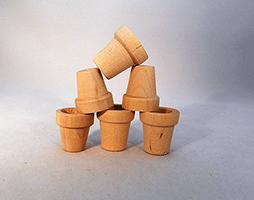 Wood Flower Pot 1 inch | Bear Woods Supply
