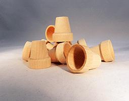 Wood Flower Pot 1-3/8 inch | Bear Woods Supply