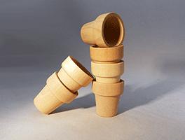 Wood Flower Pot 1-5/8 inch | Bear Woods Supply
