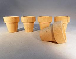 Wood Flower Pot 1-3/4 inch | Bear Woods Supply