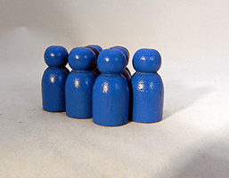 Wooden Game Pawns Blue | Bear Woods Supply
