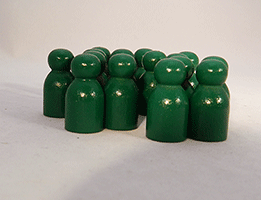 Wooden Game Pawns Green | Bear Woods Supply