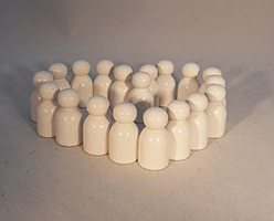 Wooden Game Pawns White | Bear Woods Supply