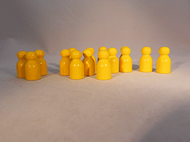 Wooden Game Pawns Yellow | Bear Woods Supply