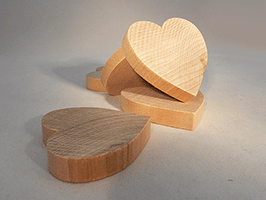 Wood Heart Cut-Out 2-1/2 inch | Bear Woods Supply