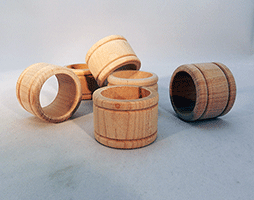 Wooden Napkin Rings | Bear Woods Supply