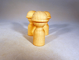Little Wooden Man With Hard Hat | Bear Woods Supply