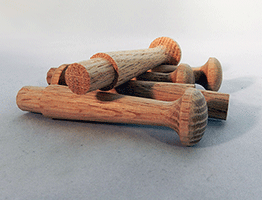 Wooden Oak Shaker Pegs 3-1/2 inch | Bear Woods Supply