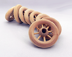 Wooden Spoked Wheels 2-1/4 inch | Bear Wood Supply