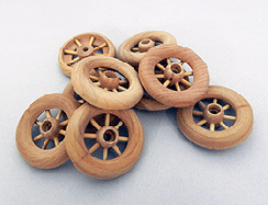 Wooden Spoked Wheels 1-3/4 inch | Bear Wood Supply