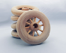 Wooden Spoked Wheels 2-1/2 inch | Bear Wood Supply
