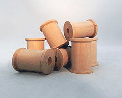 Wooden Spools 1-316 inch | Bear Woods Supply