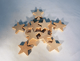 Wood Star Cut-Out 2 inch | Bear Woods Supply