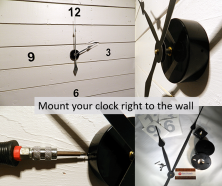 Wall clocks Mounting Kits
