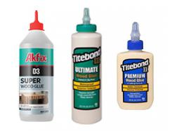 wood glue and adhesives