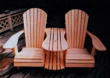 Adirondack chair and settee kit woodworking patterns