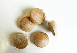 Birch Wood Round Head Plugs