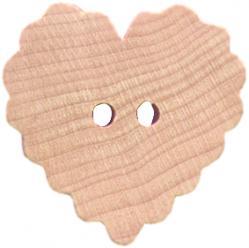 ruffled heart buttons