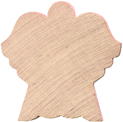 angle cutout, angel shape