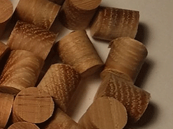 Hickory flathead wood plugs