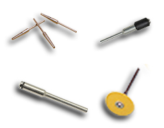 Mandrels for rotary tools and micromotors
