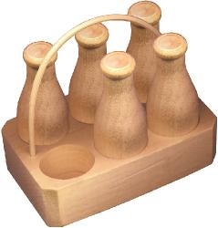Wooden Toy Cream carrier