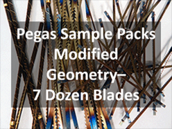 Sample pack of pegas mgt blades
