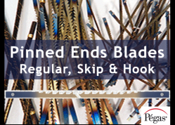 Pinned ends scroll saw blades by Pegas