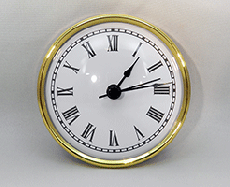 White Roman Premium Clock Insert  | Bear Woods Supply
