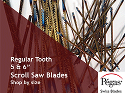 Regular Tooth Scroll Saw Blades by Pegas